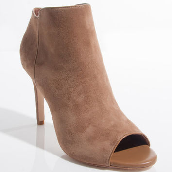 Gwen Suede Booties in Tan
