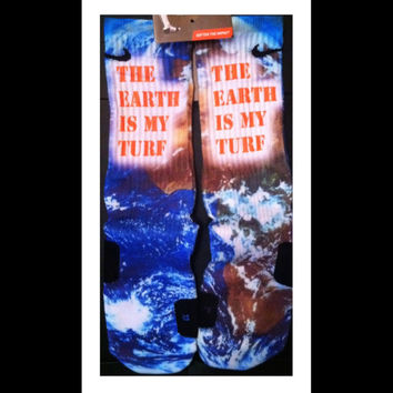 The Beast Earth is My Turf Custom Nike Elites