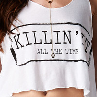 KILLIN' IT ALL THE TIME CROP TOP - WHITE | PUBLIK | Women's Clothing & Accessories