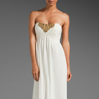 SHOSHANNA Beaded Tori Gown in Ivory at Revolve Clothing - Free Shipping!