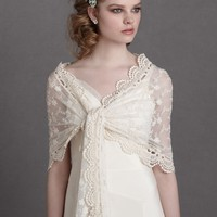 Cherished Heirloom Scarf in  SHOP The Bride Cover Ups at BHLDN