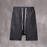 VANDALIQUE Drop Crotch Velcro Back Pocket Shorts