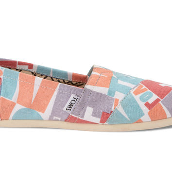 MULTI TOMS LOVE CANVAS WOMEN'S CLASSICS