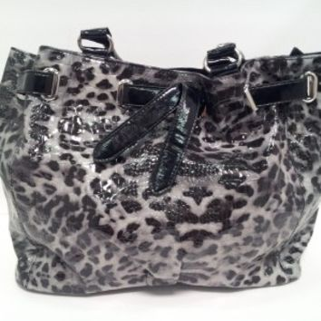Grey Leopard Purse