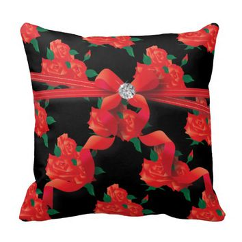 Pillow - Victoria Red Roses