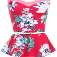 Floral Belted Top