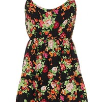 Floral Open Back Dress