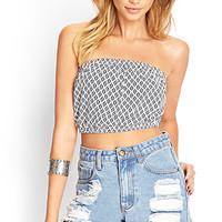 FOREVER 21 Folk Print Crop Top