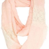 Lace Inset Infinity Scarf -