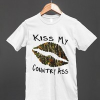 kiss my ass camo lips reg tee-jh - glamfoxx.com - Skreened T-shirts, Organic Shirts, Hoodies, Kids Tees, Baby One-Pieces and Tote Bags