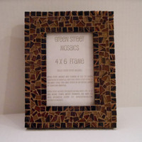 Mosaic Picture Frame  4 x 6   Browns by GreenStreetMosaics on Etsy