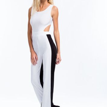 Colorblock It Off Cut-Out Jumpsuit