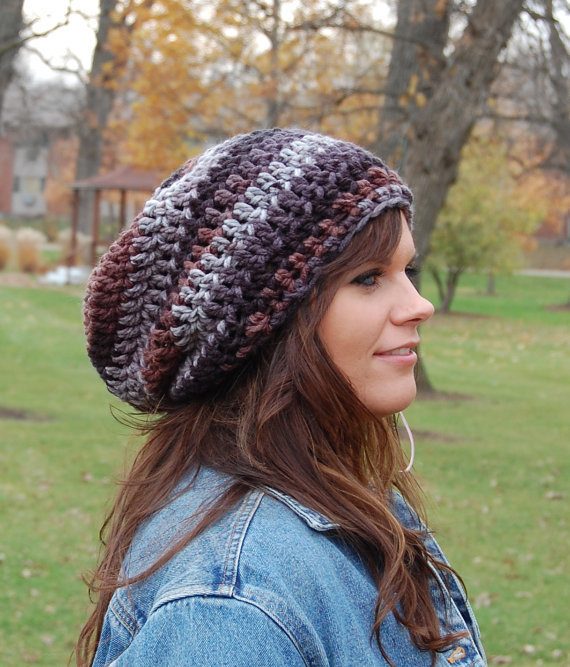 chunky slouchy hat cool crochet hats for from