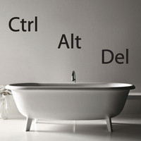 Ctrl Alt Del - Restart - Geek - Wall Decals :: Playful  Fun :: Dali Wall Decals