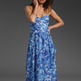 SHOSHANNA Floral Pia Maxi Dress in Cobalt Floral at Revolve Clothing - Free Shipping!