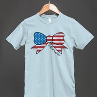 america bow reg tee - glamfoxx.com - Skreened T-shirts, Organic Shirts, Hoodies, Kids Tees, Baby One-Pieces and Tote Bags