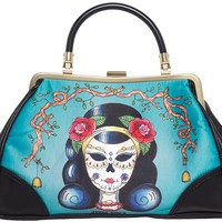 JUBLY UMPH DAY OF THE DEAD LADY HANDBAG