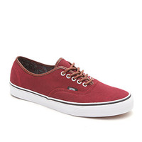 Vans Authentic Washed C&L Shoes - Mens Shoes - Red -