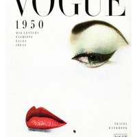 Vogue Cover - January 1950 Regular Giclee Print by Erwin Blumenfeld at Art.com