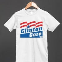 Clinton Gore 92' Patriotic Parody Reg Tee - glamfoxx.com - Skreened T-shirts, Organic Shirts, Hoodies, Kids Tees, Baby One-Pieces and Tote Bags