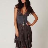 Dark- Wisteria and Lattice Dress at Free People Clothing Boutique