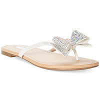 INC International Concepts Women's Maey Bow Thong Sandals