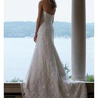 Buy Stunning Princess Lace Strapless Wedding Dress