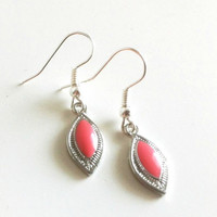 Dainty Coral Earrings by EridaneasBoutique on Etsy