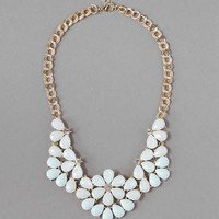 ROCKVILLE STATEMENT NECKLACE IN MINT
