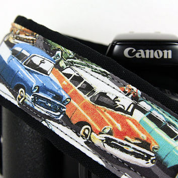 Vintage Cars Camera Strap, dSLR, Cars, Antique Cars, SLR, 134 w