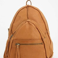 Leather Fleur Triangle Backpack-