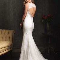 Allure Bridals 9062 Key Hole Back Wedding Dress