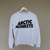 Arctic Monkeys - White Crewneck Sweatshirt /