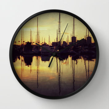 Marina Bay Lines Wall Clock by RichCaspian | Society6