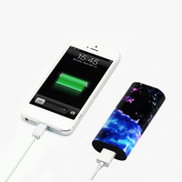 Vibrant Nebula Galaxy Portable Power Bank Charger for iPhone and Samsung