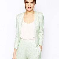 ASOS Blazer In Pretty Jacquard