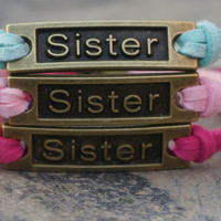 sister bracelet-sisters, alloy bracelet,best gift for your friend and lover,cute, bracelet