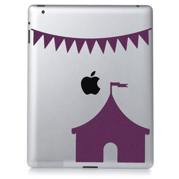 Circus Banner Velvet iPad Decal - Fabric Circus Tent iPad Sticker - Flag Decal - Circus Art