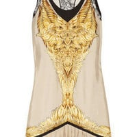 Roberto Cavalli|Printed silk-twill mini dress|NET-A-PORTER.COM