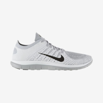 Nike Free 4.0 Flyknit Men's Running Shoes - White