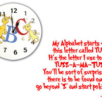 Dr Seuss Wall Decal Quote &#x27;My Alphabet Starts With by InitialYou