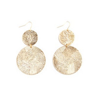 DANGLING ETCHED DISK EARRINGS
