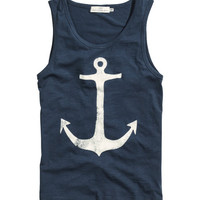 H&M - Tank Top with Printed Design -