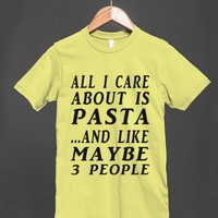ALL ABOUT PASTA-REG TEE-JH - glamfoxx.com - Skreened T-shirts, Organic Shirts, Hoodies, Kids Tees, Baby One-Pieces and Tote Bags