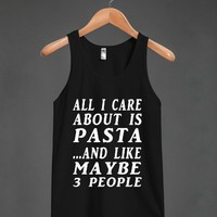 all about pasta blk/wht tank top - glamfoxx.com - Skreened T-shirts, Organic Shirts, Hoodies, Kids Tees, Baby One-Pieces and Tote Bags