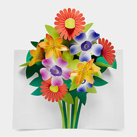 Pop-Up Bouquet Note Card Set | MoMA