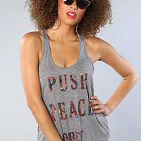 Obey The Push Peace Mock Twist Tank : Karmaloop.com - Global Concrete Culture