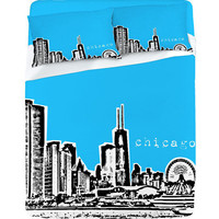 DENY Designs Home Accessories | Bird Ave Chicago Blue Sheet Set
