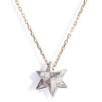 Diamond & gold Merkaba star necklace
