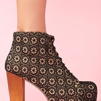 Lita Platform Boot - Black Crochet in What's New at Nasty Gal